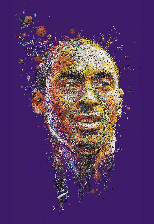 Kobe Bryant Mosaic Portrait For Bleacher Report Photomosaic Illustration Sport Basketball Legend Kobe Bryant Pictures Kobe Bryant Wallpaper Kobe Bryant