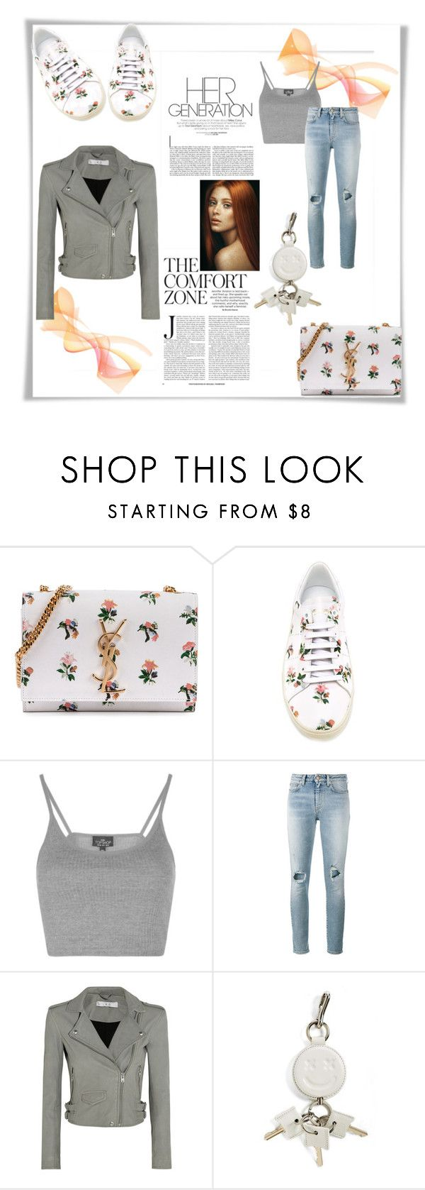 """""""Waiting for you..."""" by riborn ❤ liked on Polyvore featuring Yves Saint Laurent, Topshop, IRO and Alexander Wang"""