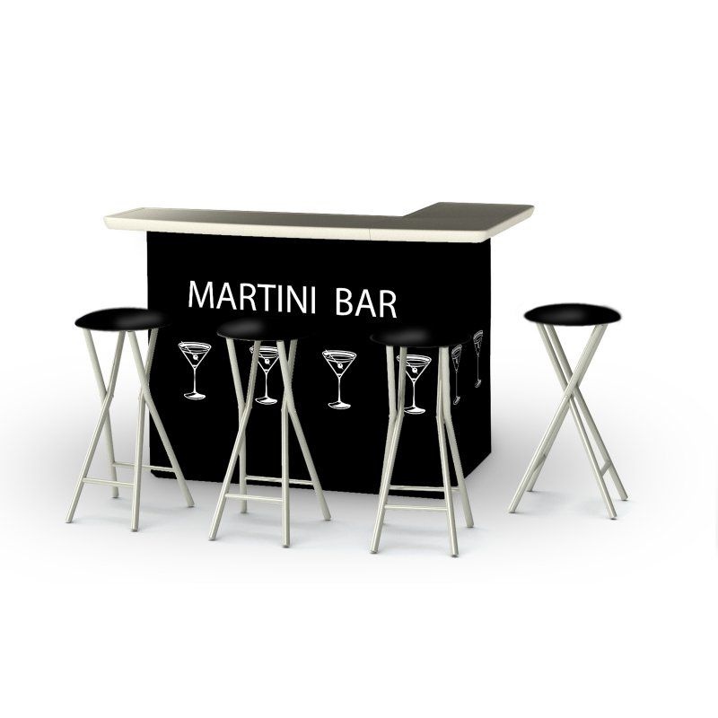 Best Of Times 5 Piece Portable Outdoor Bar Set   2002W2507