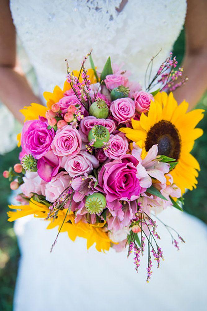 30 Sunflower Wedding Decor Ideas For You Big Day Wedding Bouquets