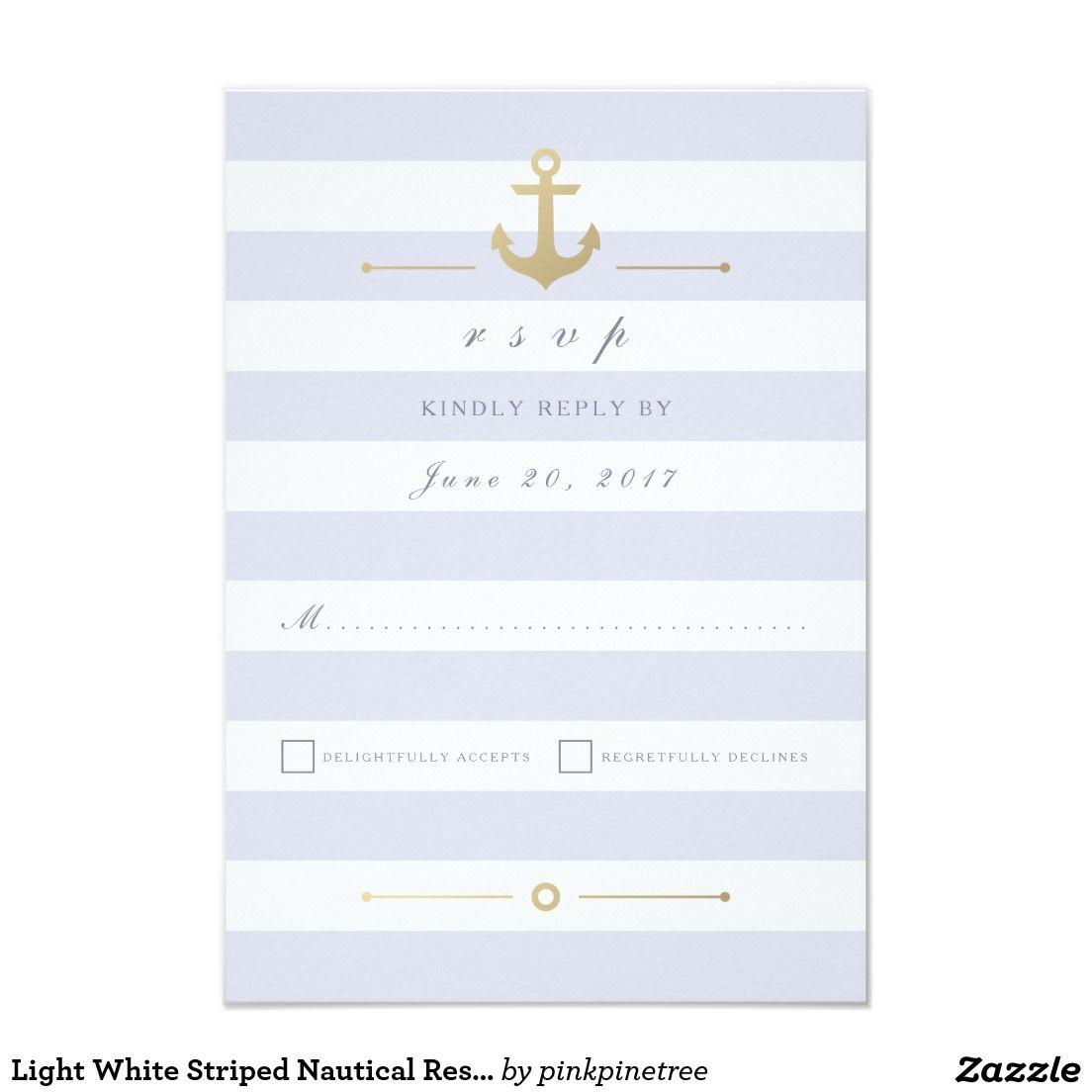 Stylish Light Pastel Purple White Striped Nautical Response RSVP ...