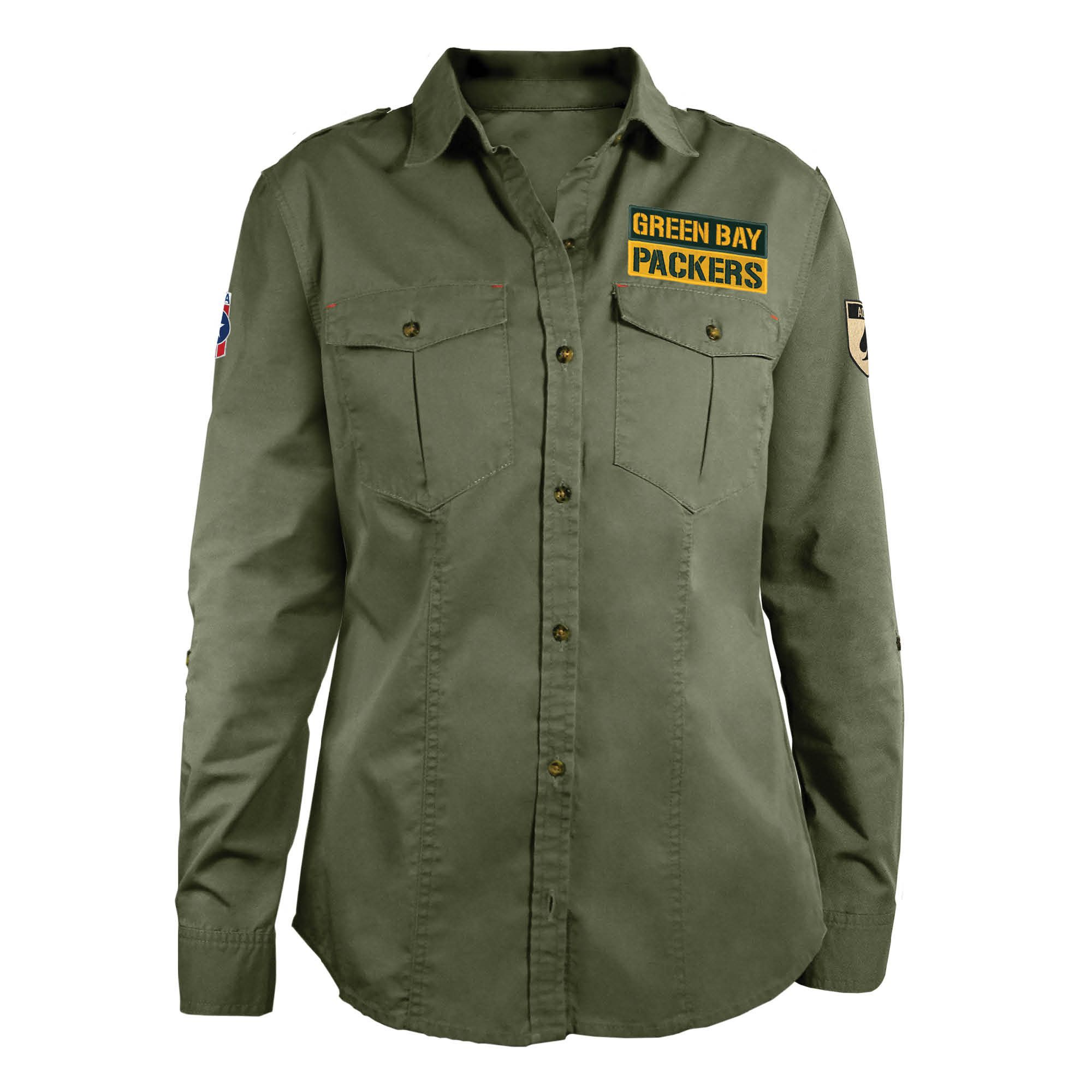 8bb6eb23 Green Bay Packers Women's Military Shirt. Standard women's sizes. #greenbay  #packers #nfl #military
