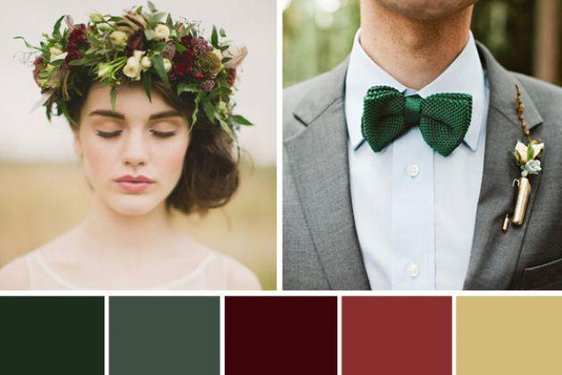 A Rustic Winter Wedding Colour Palette