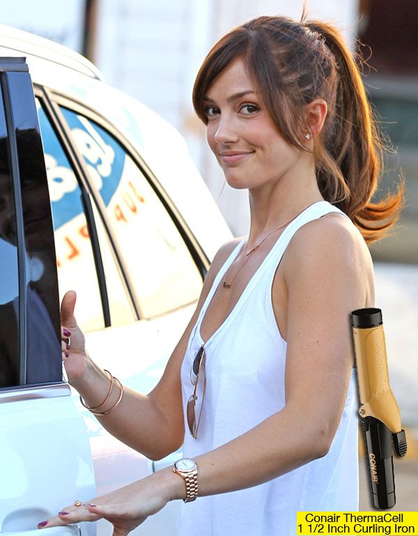 Minka Kelly's Flirty Ponytail How To Get The Look *Hair
