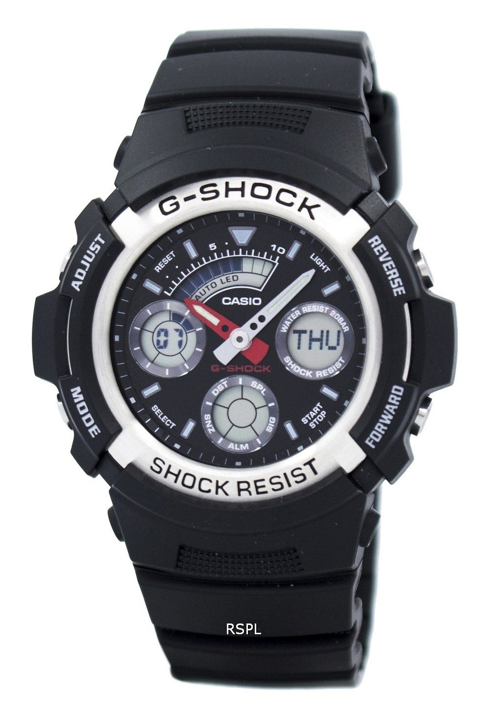 Casio Gshock Analog digital World Time Watch AW5901ADR
