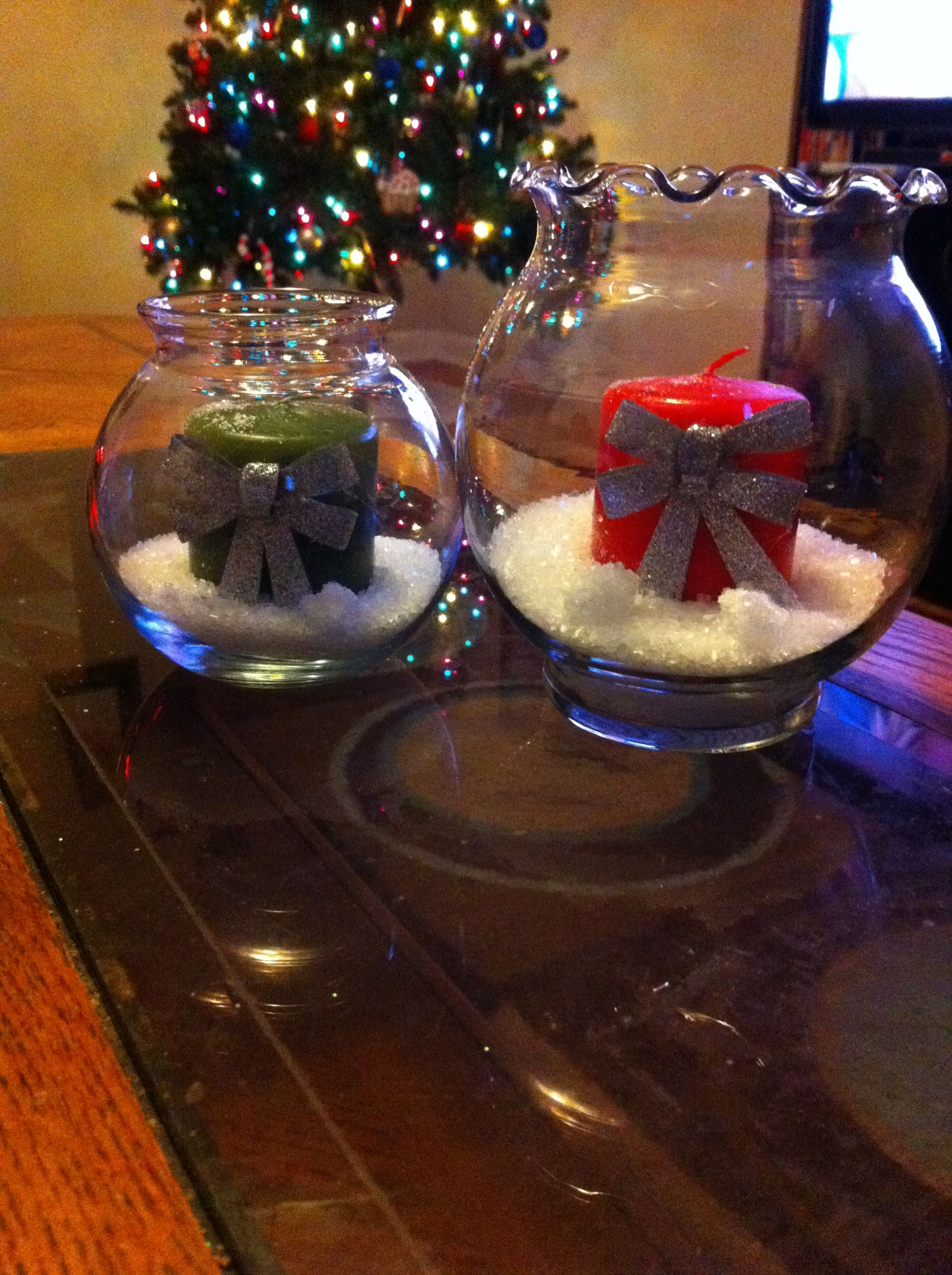 Cute And Cheap Christmas Decorations Glass Bowls ($1 At Michaels)