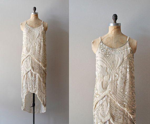 1920s dress / beaded 20s dress / Diaphanous Star dress | Beautiful ...