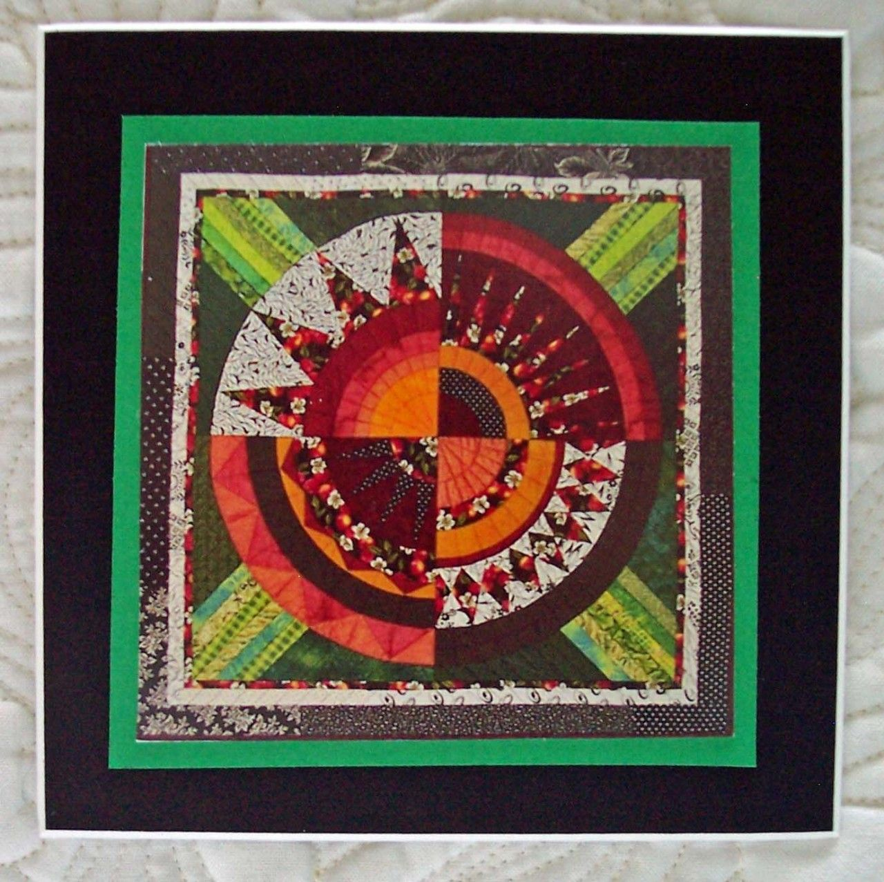 This is based on a New York Beauty quilt block. I just listed Refrigerator Photo Magnet Cherry Carnival on The CraftStar @TheCraftStar #uniquegifts