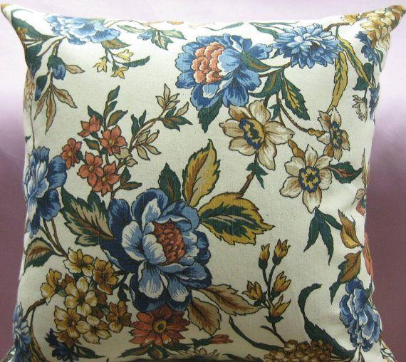 Floral print decorative pillow cover-20x20