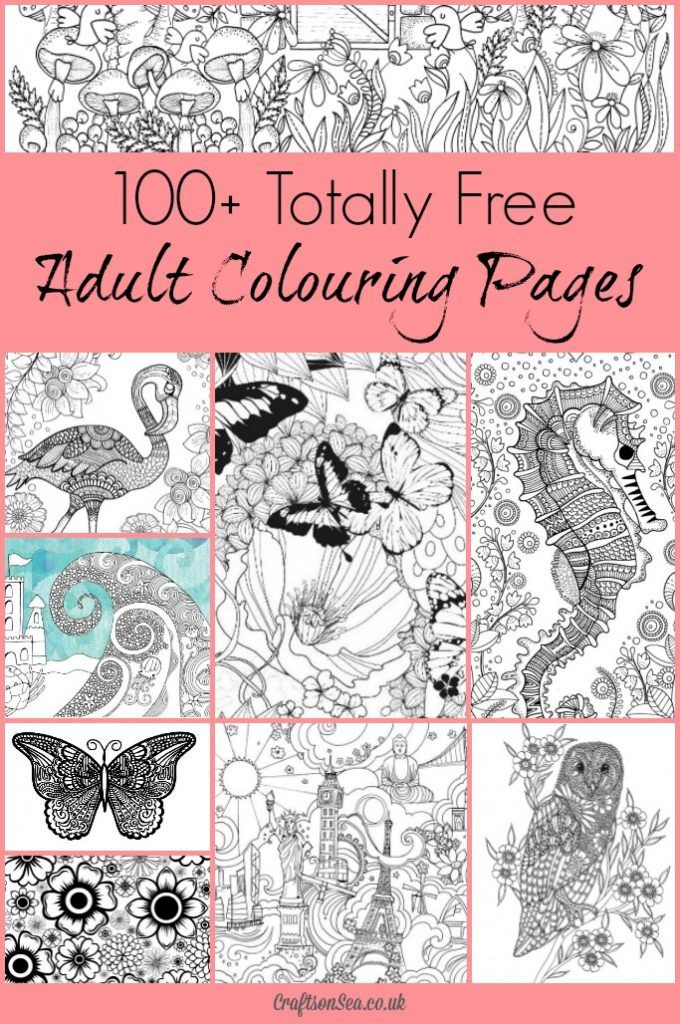 100+ Free Printable Coloring Pages for Adults | 100 free, Adult ...