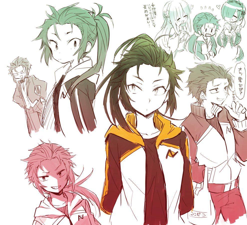 Resultado de imagem para anime genderbend Re zero