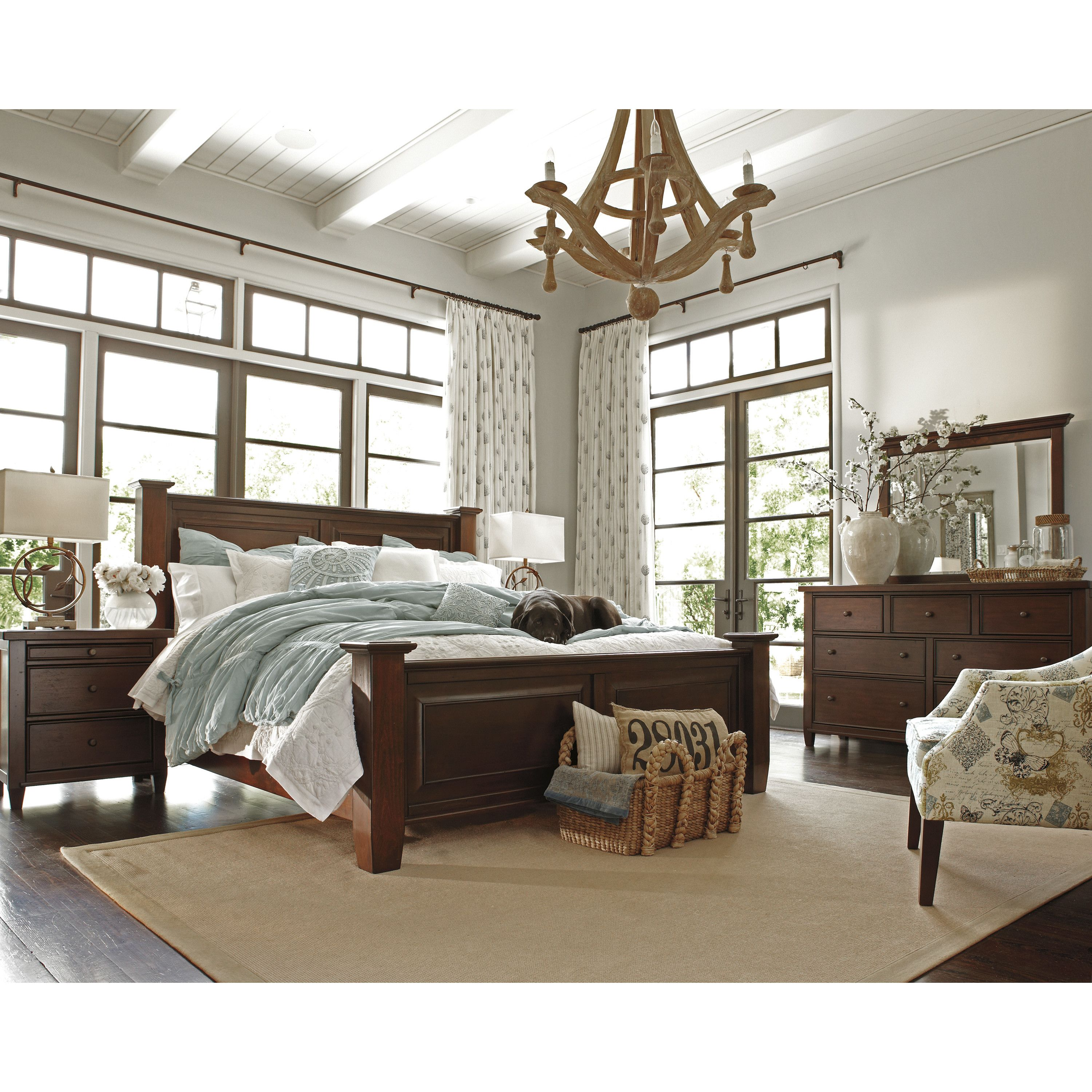 Signature Design by Ashley Hindell Park Four Poster Bed