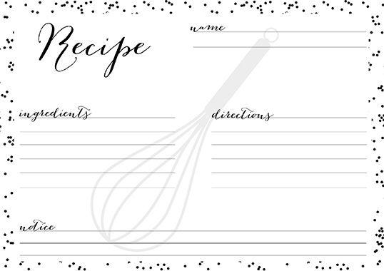 10 Kostenlose Rezeptkarten In Black Amp White Kreavida Kreavida Rezeptkarten Kochbuch Vorlage Kochbuch Selbst Gestalten