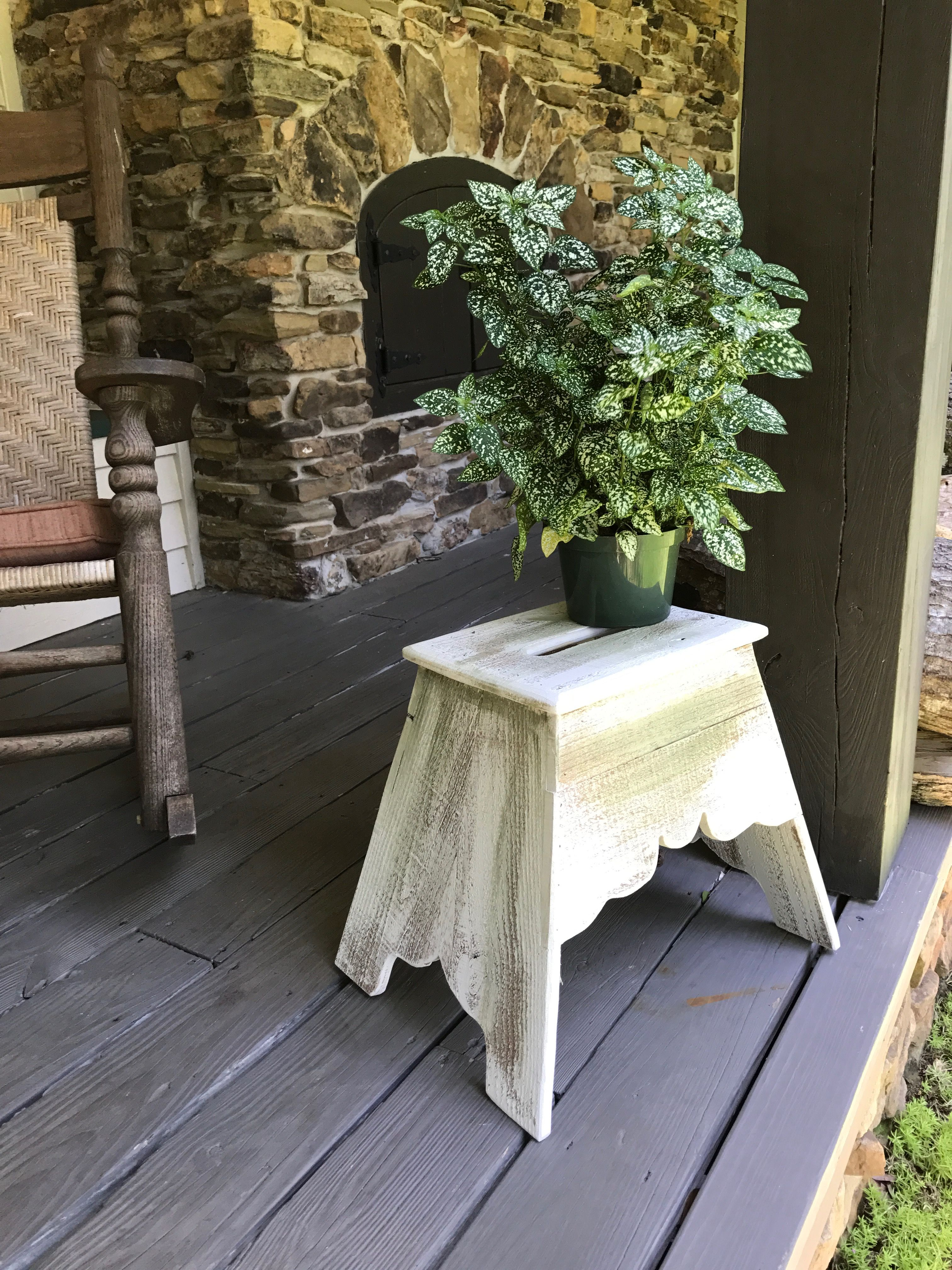 Reproduction of a Louisiana Antique Stool, made by Woodwing Art's Mitch Kilgore.