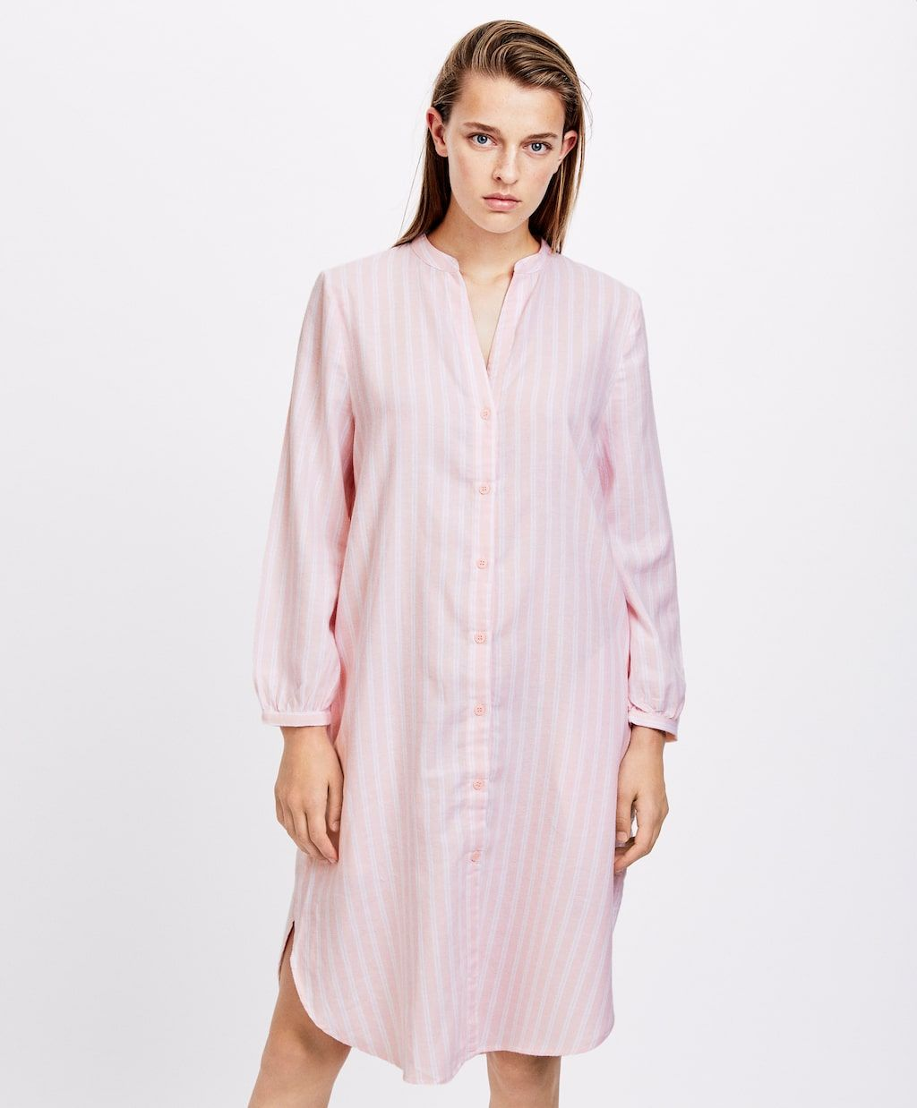 100% autentico 9b0dc 60669 Camicia da notte rosa a righe - Camicie da notte e tute ...