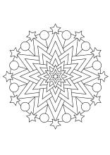 weihnachtsmandala ausdrucken ausmalen | basteln