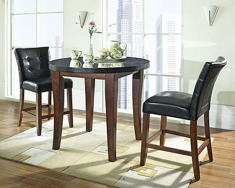 Granite Bello Pub Table and Chairs by Steve Silver FURNITURE