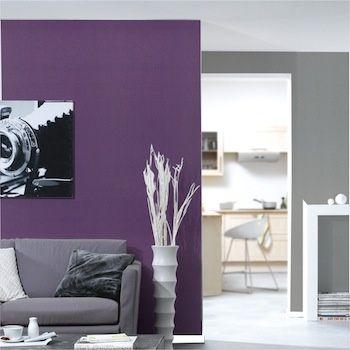 peinture couleur prune dans un salon deco maison pinterest peinture prune peinture et. Black Bedroom Furniture Sets. Home Design Ideas