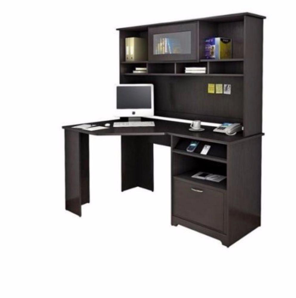 Corner Computer Desk With Hutch L Shaped Reception