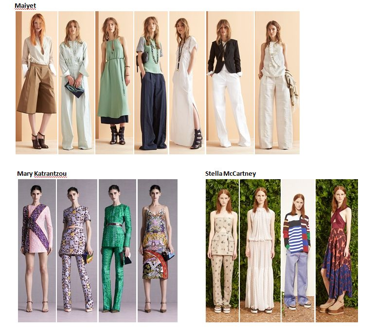 Preview Spring Summer 2015 apparel, shoes and make up by Maiyet, Mary Katrantzou, Stella McCartney ----- pre-collezione moda trend Primavera Estate 2015 abbigliamento scarpe accessori e trucco