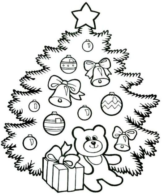 Cute Christmas Tree Coloring Page - Christian Coloring Pages - new christmas tree xmas coloring pages