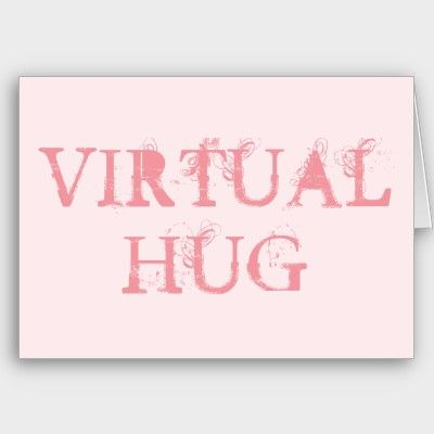 Sweet pink virtual hug greeting card greetings cards by sweet pink virtual hug greeting card m4hsunfo Image collections