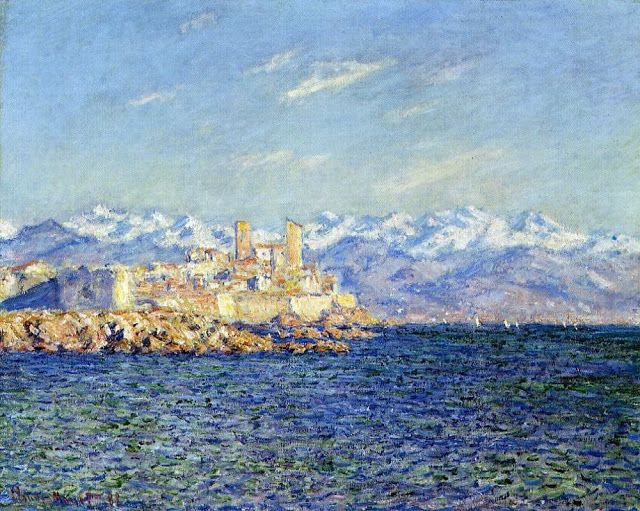 Monet Juan-les-Pins  | Antibes, efecto atardecer (1888), Boston Museum of Fine Arts