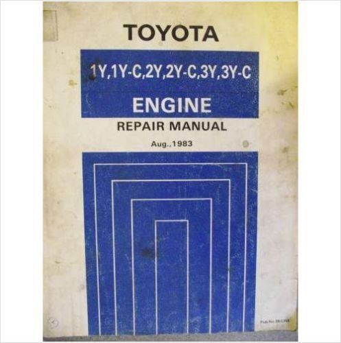 14 99 toyota 1y 1yc 2y 2yc 3y 3yc engine repair workshop manual 83 rh pinterest com Toyota Yaris IA Manual Transmission Toyota Yaris IA Manual Transmission