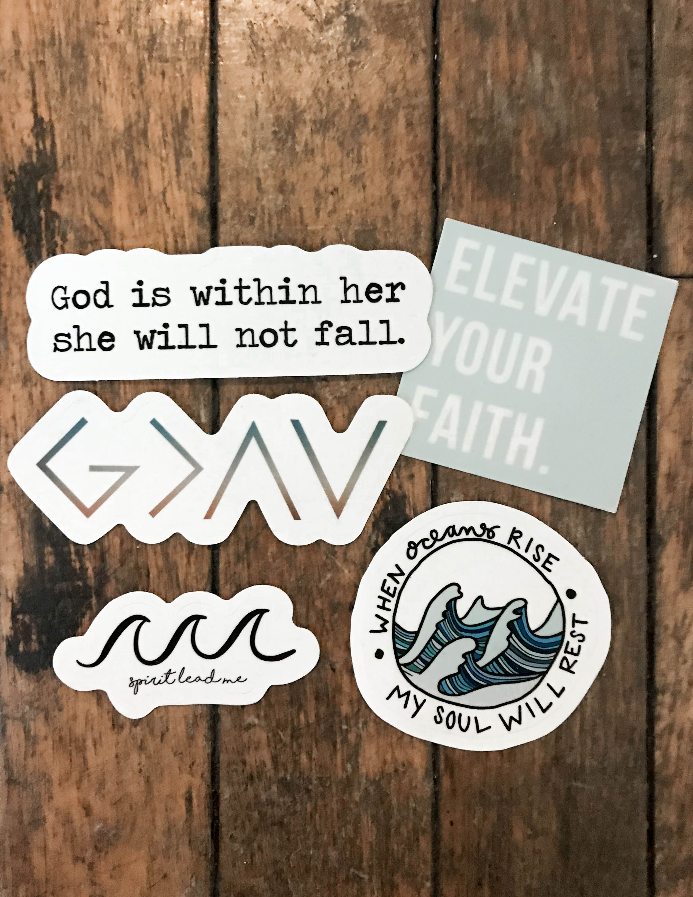 Elevated Faith Sticker Pack L Christian Gifts L Christian Stickers L Elevated Faith Faith Stickers Christian Stickers Hydroflask Stickers [ 3627 x 2803 Pixel ]