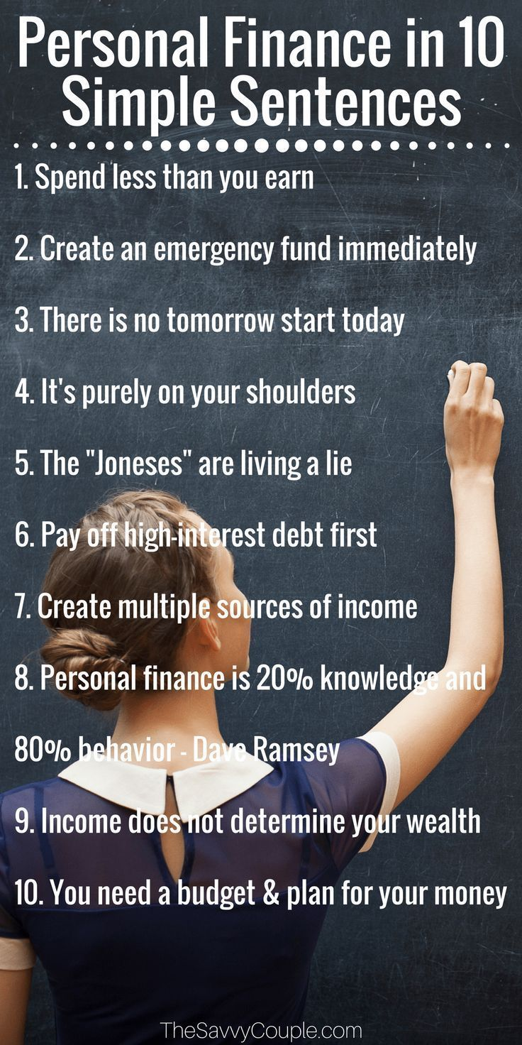 Struggling to learn how to manage your money? Forgot how to make a budget and stick to it? Don't know where to start with your debt? Well here are 10 personal finance lessons in 10 simple sentences that will help you manage your money and achieve financial freedom.