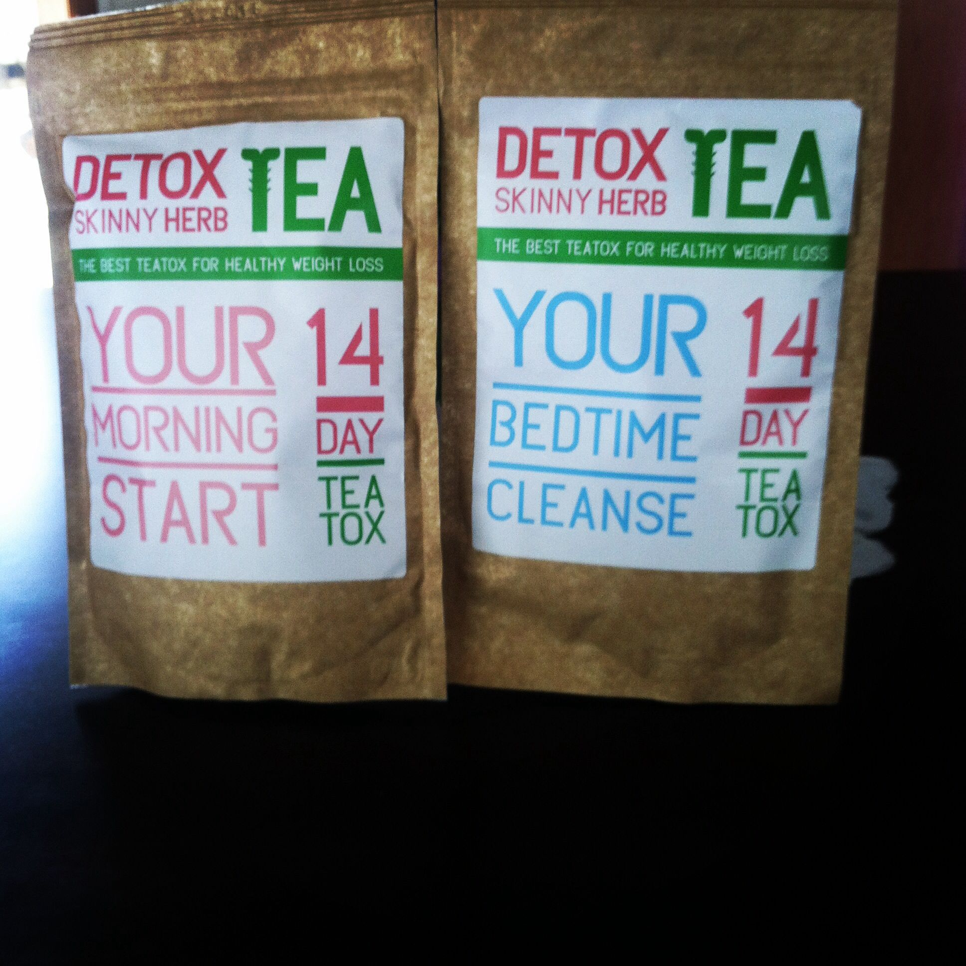 Detox skinny herb tea 14 days morning and bedtime fit