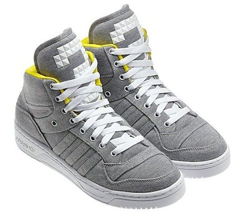 best service 362c3 015a3 Adidas Originals M Attitude Logo Three Grey Yellow Shoes