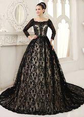 Vestidos de novia de encaje negro