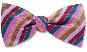 Indian Handwoven Silk Stripe bow ties