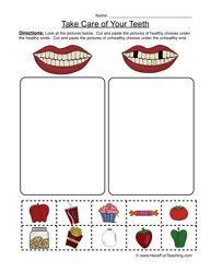 Clean Teeth Worksheet - Sorting | Search, Health and Preschool