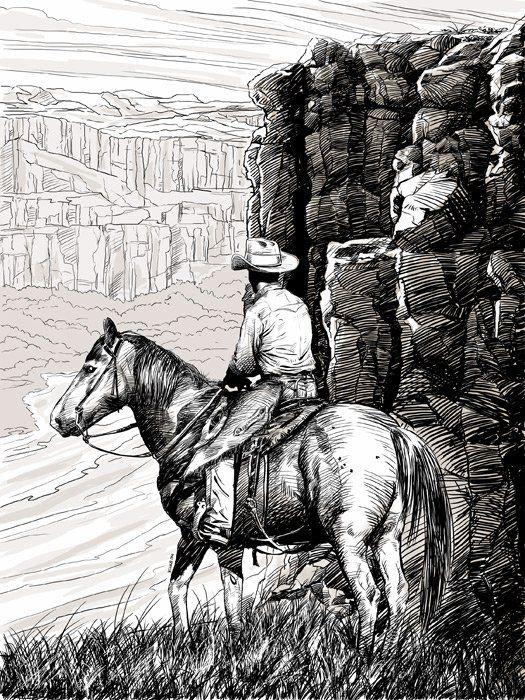 Картинки дикого запада карандашом, открытки бывают для