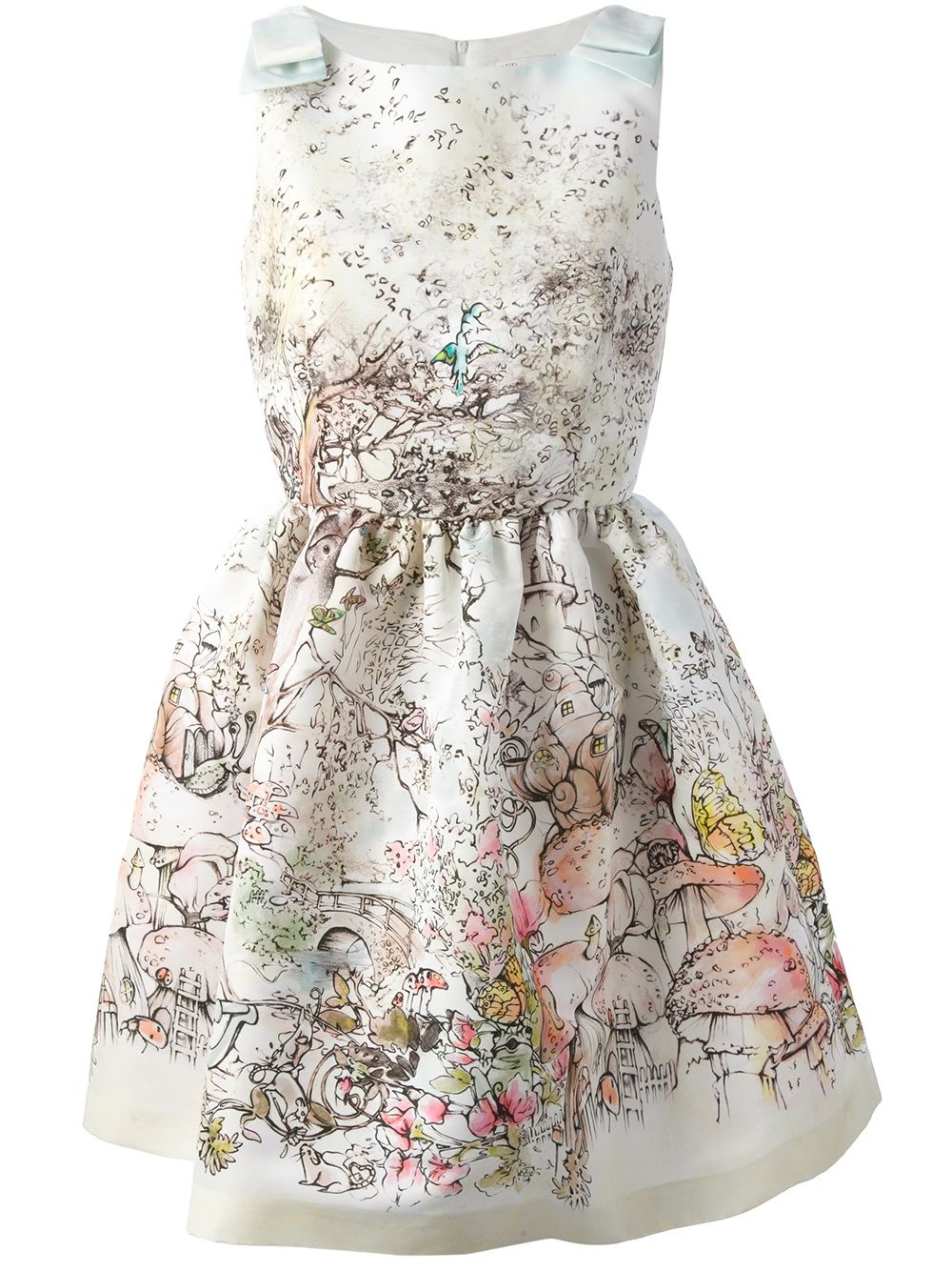 aa0357ba60b3 RED VALENTINO - printed sleeveless dress 6.. Meg