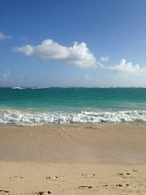 Punta Cana beautiful beach and blue sky Dec 2013