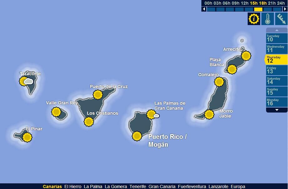Weather Map Canary Islands The Canary Islands on | Estupendo | Canary islands, Island, Twitter