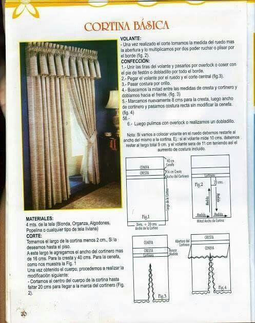 curtain   cortinas   Pinterest   Cortinas, Ventanas y Cenefas