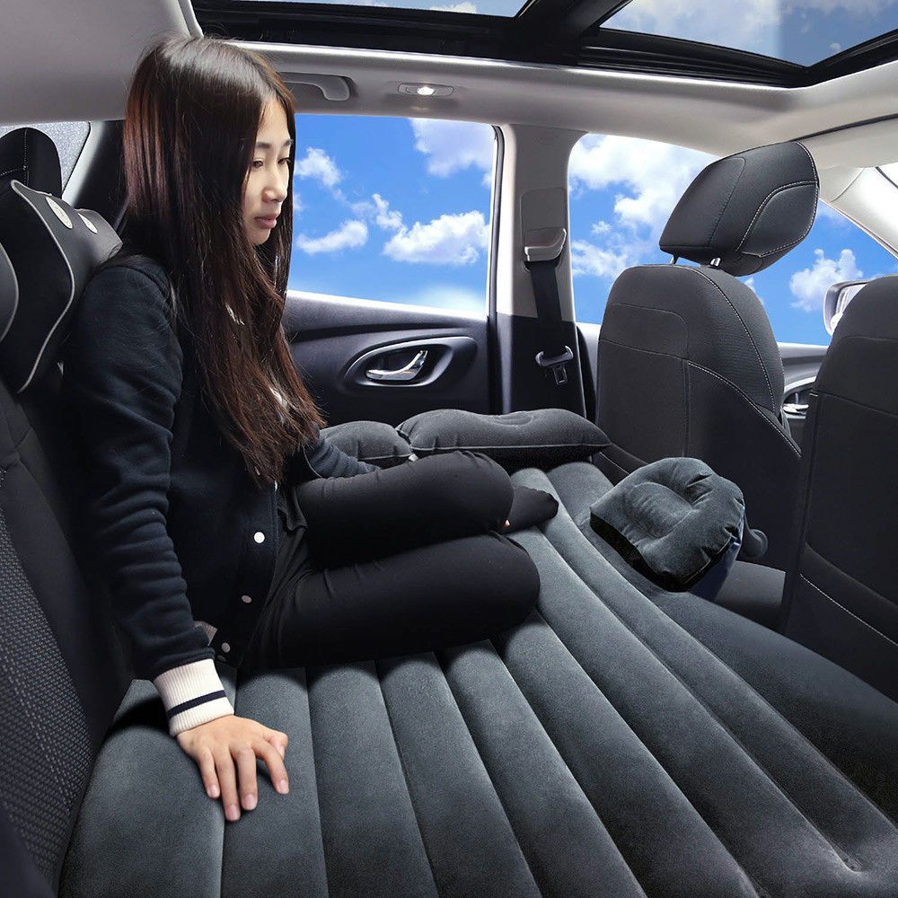 Nice Amazing 1pc BLK US Inflatable Car Seat Sleep Rest Bed