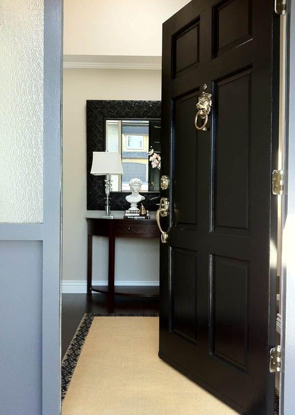 Before After My Front Door Front Door Front Door Makeover Curb Appeal Black Front Doors