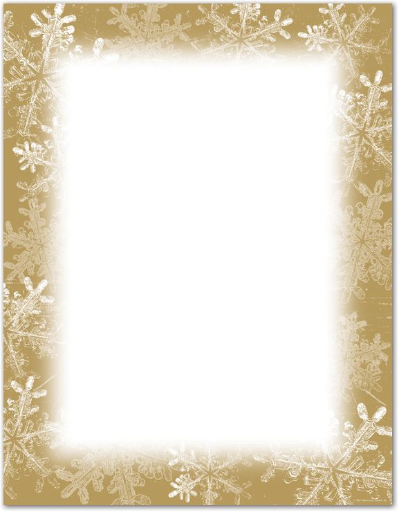 Holiday Stationery Letterhead, Frosted Holiday Wishes Letterhead