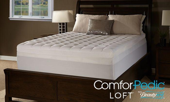 Comforpedic Loft 4 5 Quilted Memory Foam Mattress Topper By Beautyrest Memory Foam Mattress Topper Mattress Memory Foam