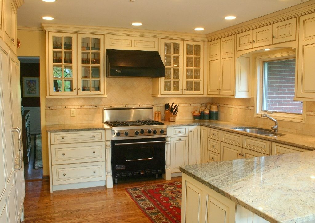 Possible Layout For Kitchen Distressed Ivory Kitchen 1 Jpg 1024 725 Distressed Kitchen Cabinets Kitchen Cabinet Styles Quality Kitchen Cabinets