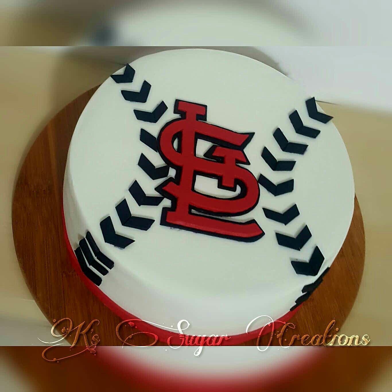 Astounding Saint Louis Cardinals Baseball Cake Baseball Birthday Cakes Funny Birthday Cards Online Alyptdamsfinfo