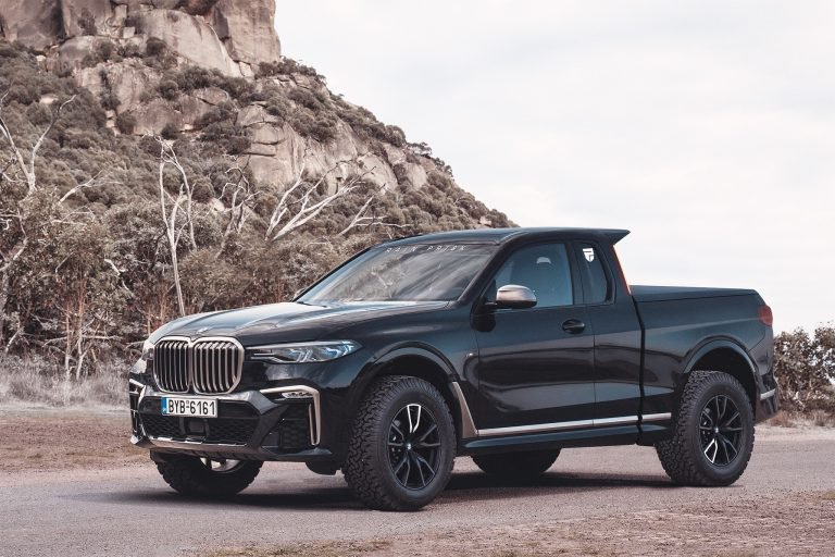 Bmw Could Have Made The X7 Pickup Much More Rugged Like This Carscoops Bmw X7 Bmw Truck Pickup Trucks