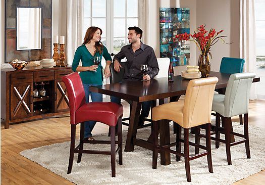 Shop For A Mango 5 Pc Red Counter Height Dining Room At Rooms To Adorable Height Dining Room Table Inspiration