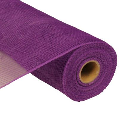 """Deco Poly Mesh® Ribbon Roll Purple 10"""" x 10 Yds Synthetic material Visit ourTutorials for project ideas."""