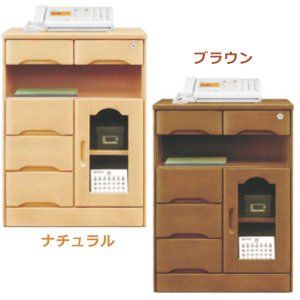 Telephone stand FAX stand Finished product 60cm in width wooden (door type) (SALE sale): sw-000176: Okawa Furniture Sanmai Yahoo …